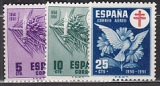 Spanien Zwangszuschlag Mi.-Nr. 52/54 **