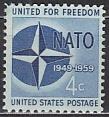 NATO 1959 USA Mi.-Nr.  750 **