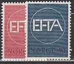 EFTA 1967 Norwegen Mi.-Nr. 551/52 **