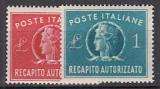 Italien - Gebührenmarken Brief Mi.-Nr. 7/8 **