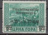 Dt.Bes. - Montenegro Mi.-Nr. 25 **