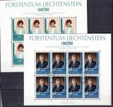 Liechtenstein Kleinbogen Mi.-Nr. 797/8 oo