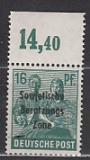 SBZ Mi.-Nr. 188 a P OR dgz **