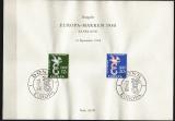 CEPT 1958 amtliches Sonderblatt SAAR Mi.-Nr. 439/40 oo