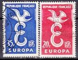 CEPT Frankreich 1958 oo