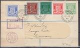Deutsche Besetzung Guernsey Mi.-Nr. 1/5 auf Brief