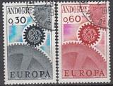 CEPT Andorra frz. 1967 oo