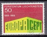 CEPT Liechtenstein 1969 oo