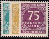 Deutsches Reich Mi.-Nr. 274/76 **